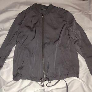 Purple/grey zip up jacket